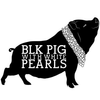 Black Pig With White Pearls - London