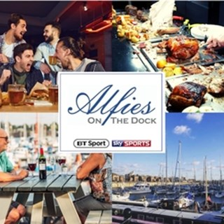 Alfies bar and grill at Liverpool Marina - Liverpool