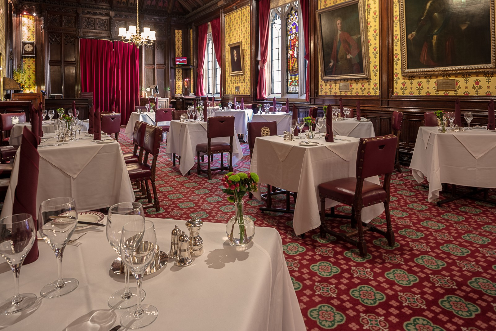 Peers' Dining Room at the House of Lords - Book restaurants online